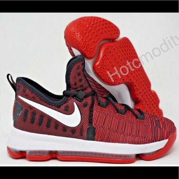 ffa73e4082e Nike Zoom KD9 Kevin Durant Black Red Size 7Y/8.5W NWT